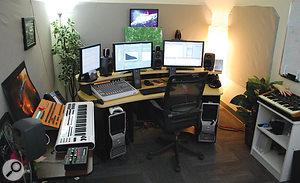Rob Blake's studio area at BioWare HQ.