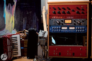 High-end valve gear in Herbert's studio includes, from top, DW Fearn VT4 tube EQ, Retro 176 compressor, Pendulum 6386 limiter and Fearn VT3 tube DI.