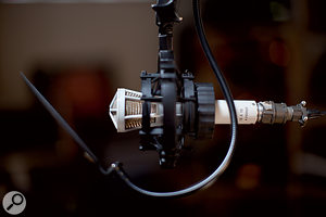 """Herbert has """"five or six"""" vintage Russian Lomo valve mics, and is not afraid to use them for location recording."""