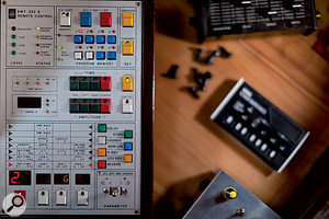 Another rare piece of outboard is Herbert's EMT 252 digital multi-effects, with this remote control unit.