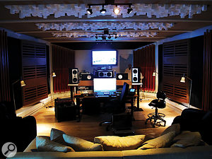 Addi 800's studio Ö&Ö in Reykjavik, where Mandy Parnell travelled to master Biophilia.