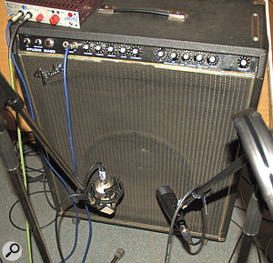 Because the bass guitar had been recorded through both a  DI box and two microphones, it was important to check for the best phase relationship between these while building an initial mix balance.