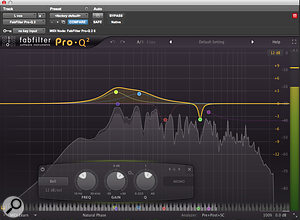 EQ was used to add further low-mid boost to the thin vocal sound, but the gain of the 240Hz band was varied using automation, as this wasn't needed all the way through the song.