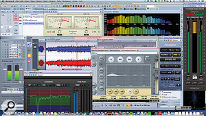 Here you can see Ian's work in progress when mastering the second of the two albums.