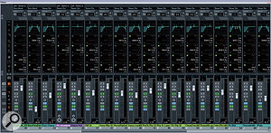 Alex had also taken a sensible approach to EQ as far as small-studio, in-the-box mixing is concerned, conserving processing resources by using Cubase's built-in EQ for everyday clutter-removal and frequency-balancing purposes, and then breaking out higher quality, DSP-hungry plug-ins (such as Universal Audio's UAD2 Pultec and Neve analogue models) only where more extensive subjective tonal sculpting was required.