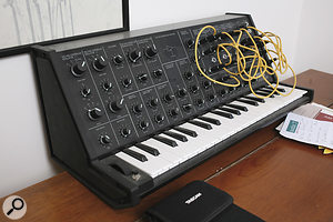 Russell's programming rig is controlled from a CME keyboard and Peavey fader surface.