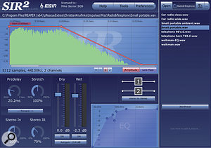 To add complexity to the upper spectrum of the supplied acoustic rhythm-guitar part, Mike created this super-short 'micro-reverb' treatment with Christian Knufinke's SIR2 convolution engine. The impulse response in question is taken from asmall portable radio.