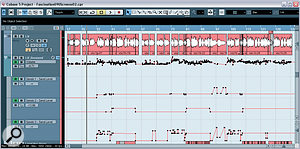 The lead vocal levels were extensively automated for this mix, as is par for the course in pop styles, and Mike also adjusted the vocal effect send levels to suit different sections of the arrangement.