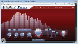 Here are the two different distortion settings Mike used for the bass guitar track. The top screen shows the harmonic–thickening patch which filled out the centre of the general guitar-and-bass texture; the bottom screen is the much more heavy–handed setup used for the aggressive bass breakdown which follow the song's first chorus.