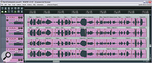 Probably the most important thing Mike did to the lead vocals was edit them for tuning and timing. This made the lyrics more intelligible, reduced apparent sibilance levels, and blended the vocals better with the backing track, even before any mix processing had been carried out.