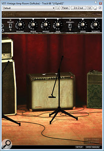 Just some of the plug–ins that were used in the remix to create a  new vocal sound effects collage during the bridge between the song's second and third choruses: Softube's Vintage Amp Room, FabFilter's Timeless 2, and Melda's MRingModulator.