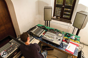 The 'control room' on the tracking session, which was an unfurnished spare room without any acoustic treatment, led to some low–end misjudgments that had to be addressed when mixing.