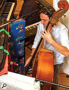 A sporadic resonance of the upright bass instrument required some more specialised mix processing, namely a  band of dynamic EQ from Melda's MDynamicEQ plug-in operating at 78Hz.