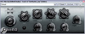 Three plug-ins Mike used to differentiate the guitar layers: Stillwell Audio's Vibe EQ (adding a7dB boost at 640Hz), and achain of Reaper's ReaPitch (shifting the signal up an octave) and DaSample's GlaceVerb.