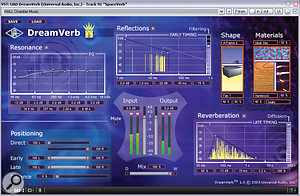 To draw all the backing parts into acommunal space, Mike used aconcert-hall preset from Universal Audio's Dream Verb, as shown in this screenshot.