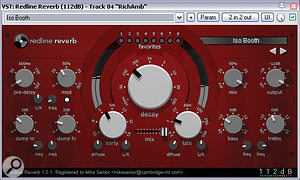 112dB's algorithmic Redline Reverb provided the main ambience reverb for the remix, blending and distancing backing parts to move them behind the lead lines.