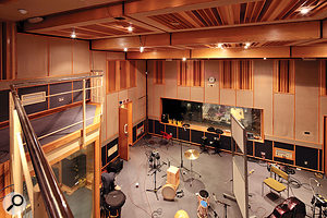 The Studio Four live area, where many rock sessions are recorded.