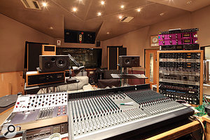The large Studio Five control room used to house an SSL console. After this was decommissioned, it saw little use, but with the aid of asmall Soundcraft desk, now fulfils avaluable role once again.