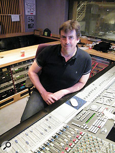 Simon Askew at the SSL in Studio Four.