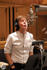 Ageing has given Paul McCartney's voice a 'vulnerable' quality which, according to producer Tommy LiPuma, helped to convey sincerity and respect for the material. The vintage Neumann U47 probably helped too.