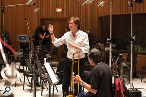 Paul McCartney puts the 'big band' through its paces at Capitol Studios.