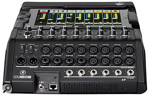 All of the DL1608's inputs and outputs reside on this rear panel. There are six aux sends, and four of the inputs are present on XLR/jack 'combi' connectors, which can accept instrument-level signals.