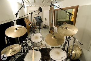 The Massive Music studios are set up to record live drums and other instruments, although other studios are used for more demanding projects.