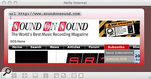Max 5 reads <em>Sound On Sound</em>.