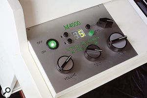 The M4000's control panel: identical to the M400's, aside from the addition of four buttons and an LED display to operate the cycling mechanism.