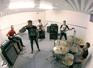 The rehearsal studio is where some of the metal producer's most important work is done.