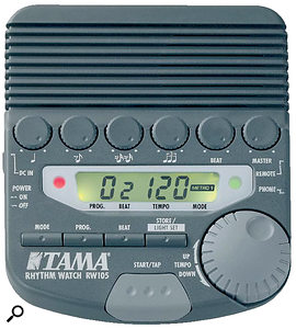 Tama's Rhythm Watch and Yamaha's Clickstation are useful portable devices for calculating click tempos.