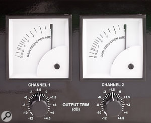 Watching the swing of the gain–reduction VU meter is an invaluable aid to setting appropriate release times.