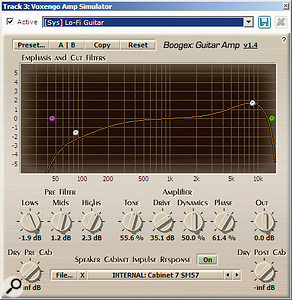 Voxengo's Boogex guitar-amp simulator is a  welcome addition.