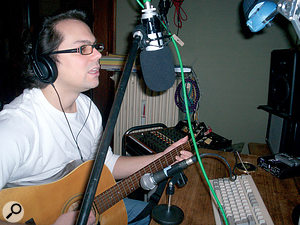 Timo's method of recording had stored up problems for him at mixdown. In the first instance the Shure SM58 dynamic mic was adding a lot of noise to the guitar part, and was also positioned in such a way that the guitar body resonances were being emphasised and were making some low notes boom unevenly. The vocal mic's foam wind sock also wasn't helping, as it was dulling the mic's high‑frequency pickup while still letting problematic plosive air blasts through to the mic's capsule.