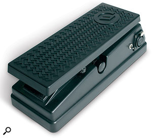 The Foot Pedal Controller. The five-pin XLR socket to connect it to the Moog Guitar can be seen at the top right corner.