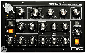 The Minitaur looks good in its traditional Moog livery and, at just 22 x 14cm, its front panel is certainly compact.