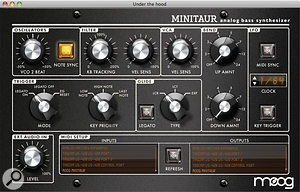 All of the Minitaur's front panel controls (except its Fine Tune knob) respond to MIDI CC numbers and can be edited via the Minitaur Editor software. But that's not all: the software also allows you access to avariety of other controls that are otherwise hidden, as seen here.