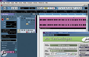 The output from a  Cubase MIDI channel has been set to Mu Voice, allowing control of the automated harmonies via MIDI.