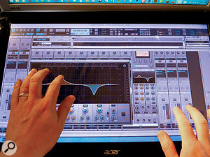 Cakewalk Sonar X3 remains the only mainstream DAW designed to support Windows multi-touch, and includes some useful features for touchscreen operation, such as the large slide-out EQ panel.