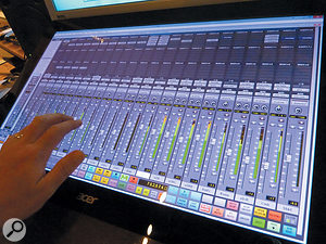 Reminiscent of the Slate Digital Raven, but with some useful touches of its own, the impressive Devil Technologies DTouch has been developed specifically for Pro Tools control on the Windows platform.