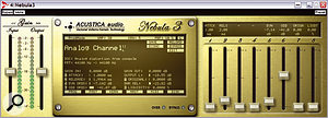 Sporting its latest 'old gold' livery, Nebula 3 is here emulating an analogue console being driven hard, with separate control over its odd and even harmonic contributions.