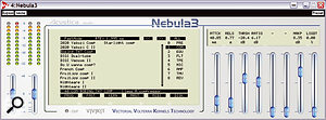 The compressors (shown here in an alternative Aqua skin) provide mostly familiar controls and calibrations. Notice also the nine preset categories listed down the right hand side of the LCD menu window.