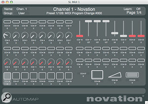 Novation's Automap application makes it easy to map the 61SL MkII to your software's controls.