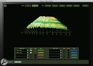 The new 3D scrolling Meter Bridge is only available in the Advanced version of Ozone 5.