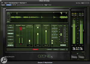It's only asingle-band algorithm, but Ozone 5's Maximizer is nevertheless avery transparent limiter.