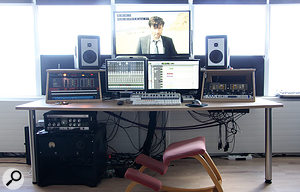 Ólafur Arnalds' room at E7 Studios is based around aPro Tools HD rig and Barefoot monitors. There's no desk, but quite abit of vintage outboard.