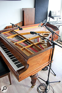 The fully restored Bechstein piano, miked with pairs of Coles 4038s or Neumann KM84s, is central to most of Ólafur Arnalds' recordings.