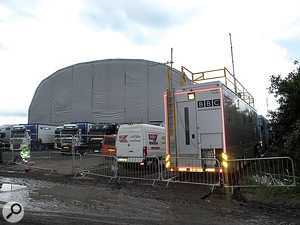 It's not all glamour! This year's dreadful weather hasn't improved the festival experience, foraudienceor technicians.