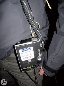 Communication between truck and stage is vital, and usually takes place over aradio system.
