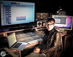 Adam Young, aka Owl City, in his Sky Harbor basement studio.
